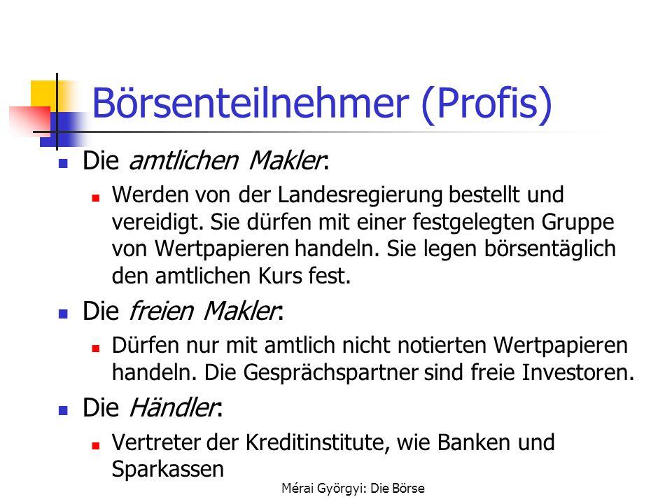 Börsenteilnehmer (Profis)
