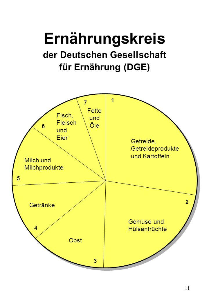Ernährungskreis der Deutschen Gesellschaft für Ernährung (DGE)