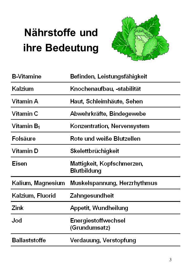 Nährstoffe und ihre Bedeutung