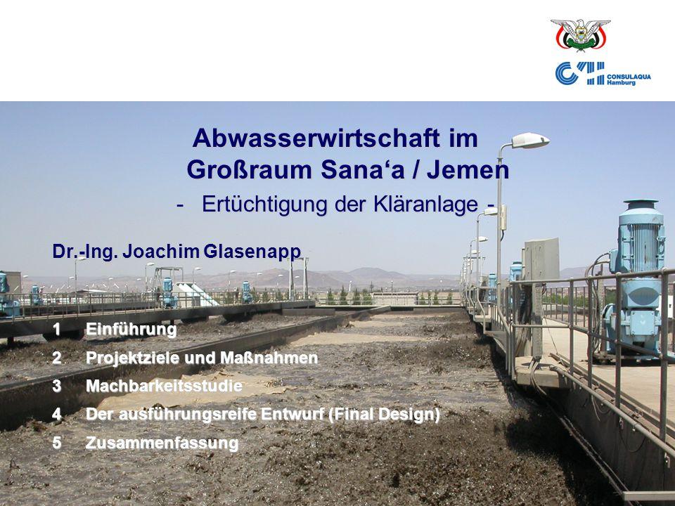 Abwasserwirtschaft im Großraum Sana'a / Jemen