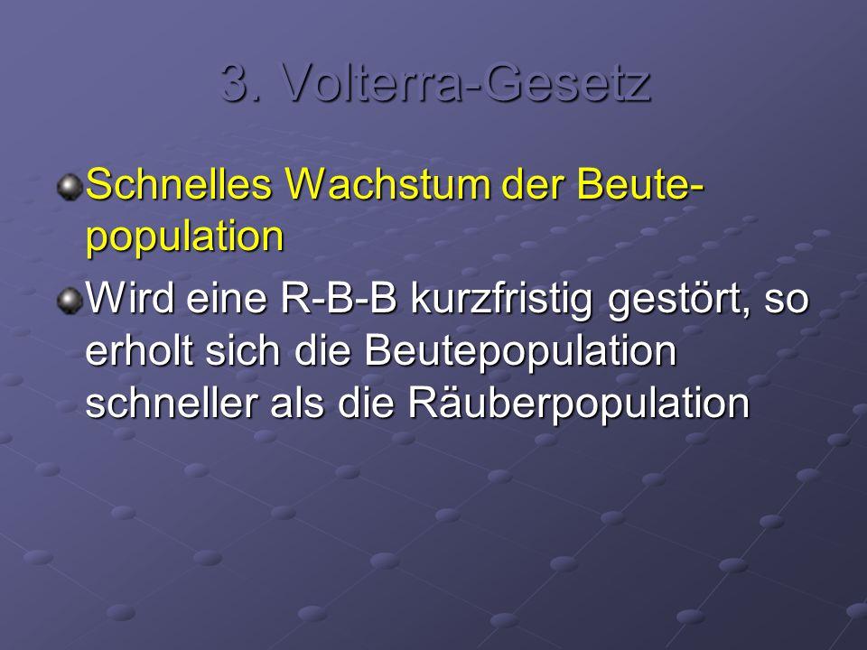 3. Volterra-Gesetz Schnelles Wachstum der Beute-population