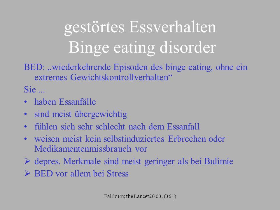 gestörtes Essverhalten Binge eating disorder