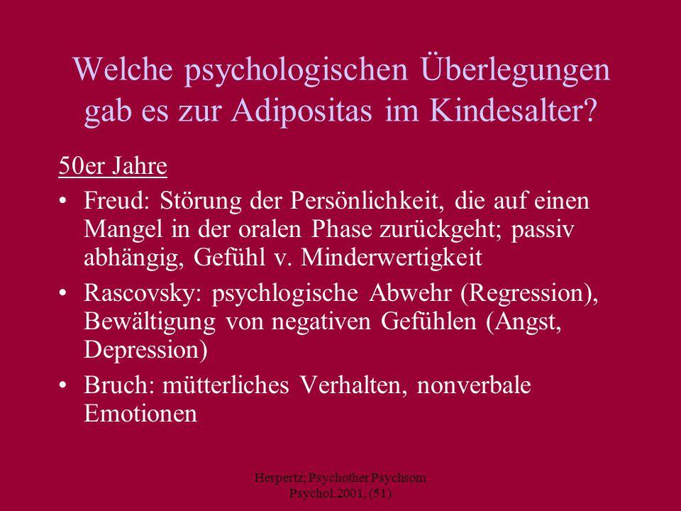 Herpertz; Psychother Psychsom Psychol.2001, (51)
