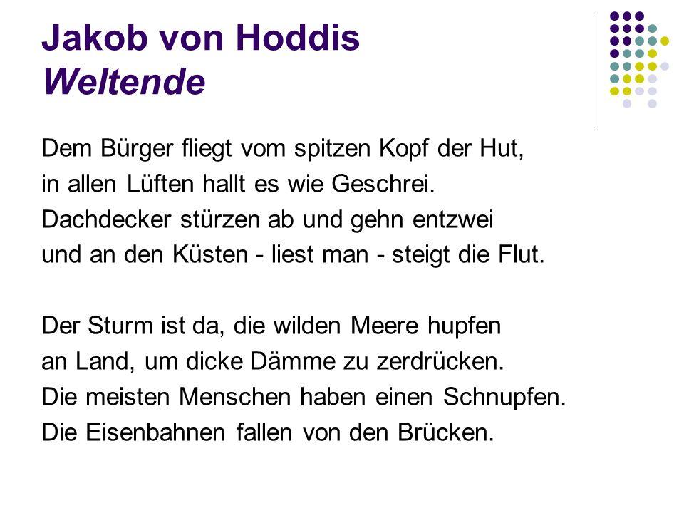 Jakob von Hoddis Weltende