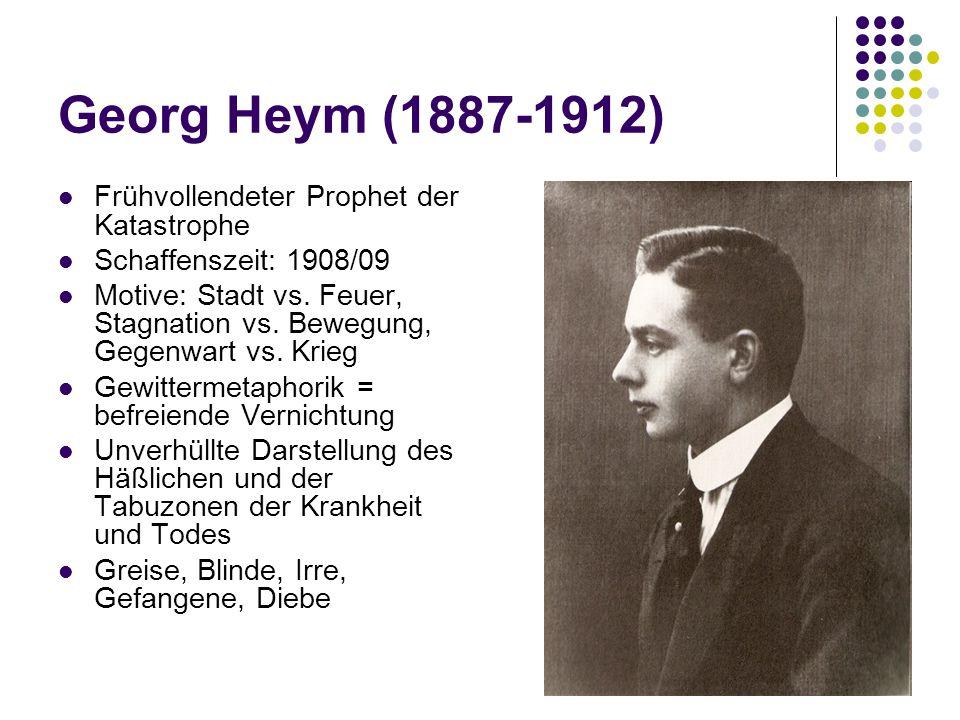 Georg Heym (1887-1912) Frühvollendeter Prophet der Katastrophe
