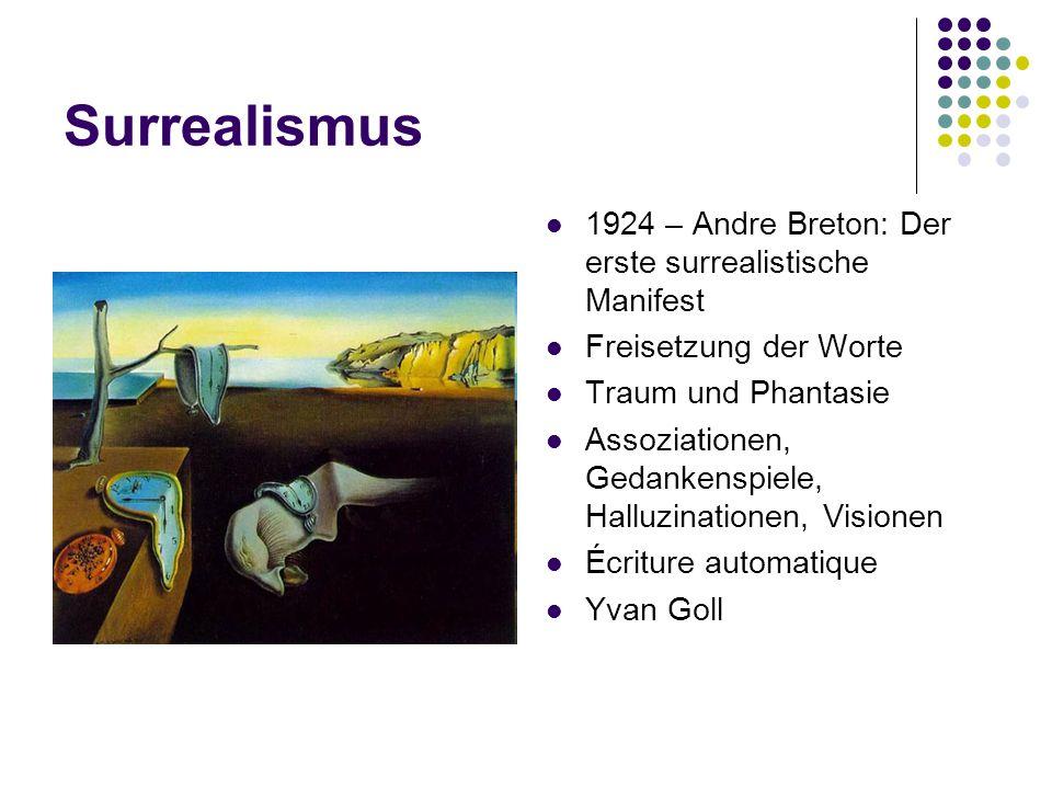 Surrealismus 1924 – Andre Breton: Der erste surrealistische Manifest