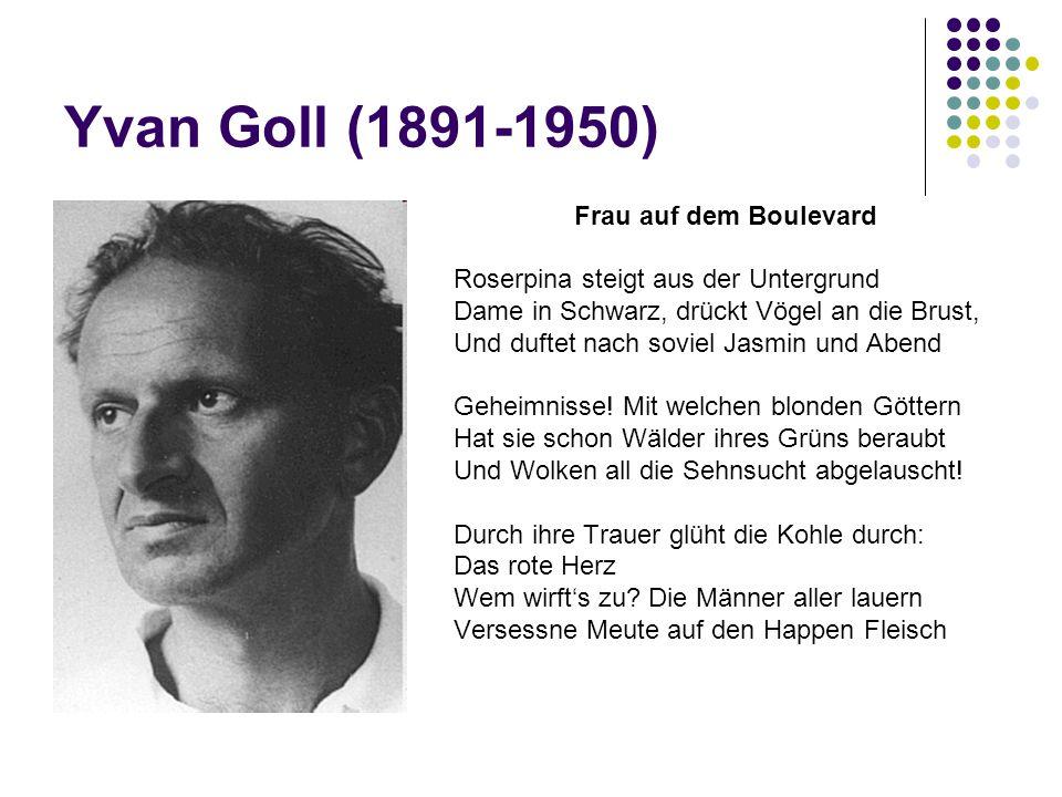 Yvan Goll (1891-1950) Frau auf dem Boulevard