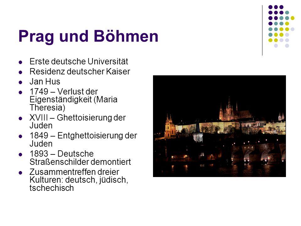 Prag und Böhmen Erste deutsche Universität Residenz deutscher Kaiser