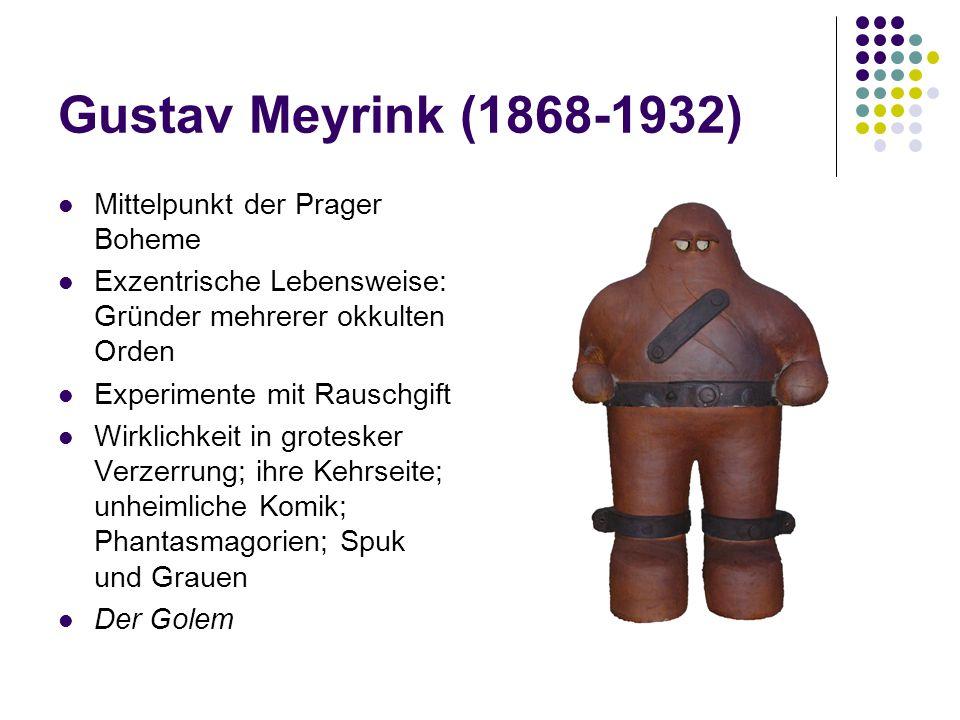 Gustav Meyrink (1868-1932) Mittelpunkt der Prager Boheme
