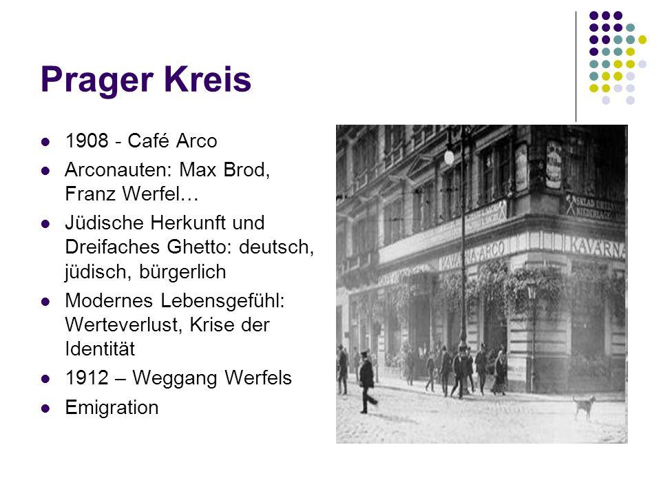 Prager Kreis 1908 - Café Arco Arconauten: Max Brod, Franz Werfel…
