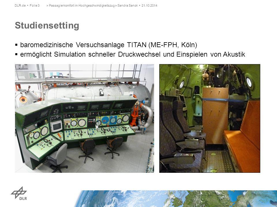 Studiensetting baromedizinische Versuchsanlage TITAN (ME-FPH, Köln)