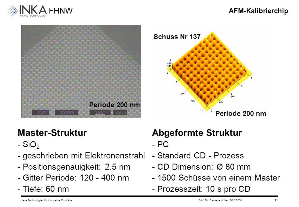 Master-Struktur Abgeformte Struktur - SiO2