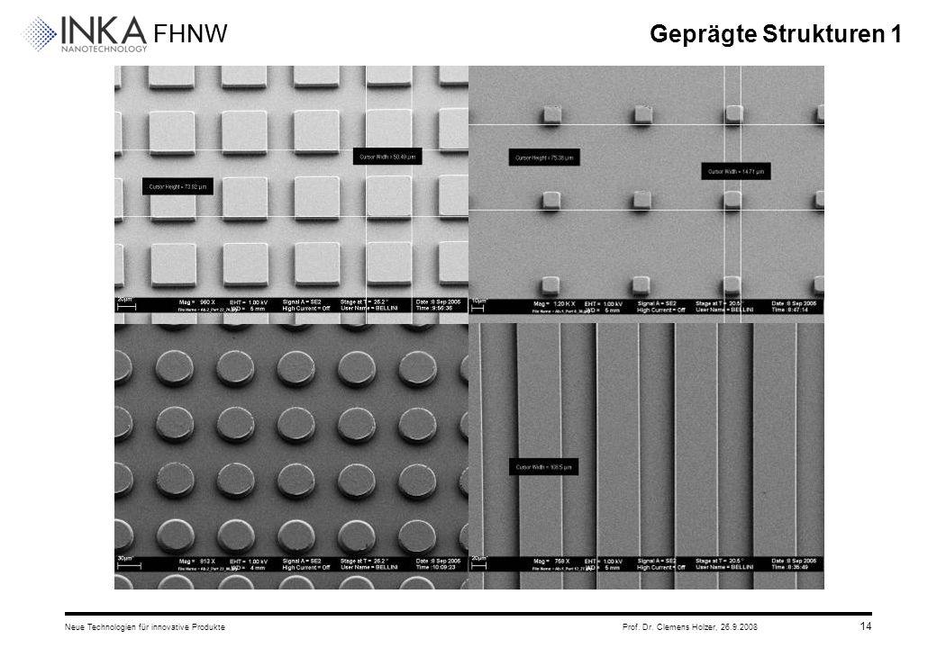 Geprägte Strukturen 1 Neue Technologien für innovative Produkte Prof. Dr. Clemens Holzer, 26.9.2008