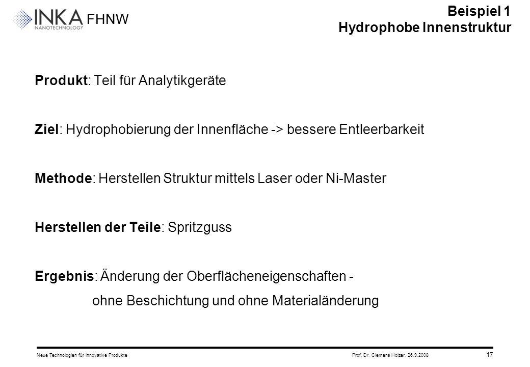 Beispiel 1 Hydrophobe Innenstruktur