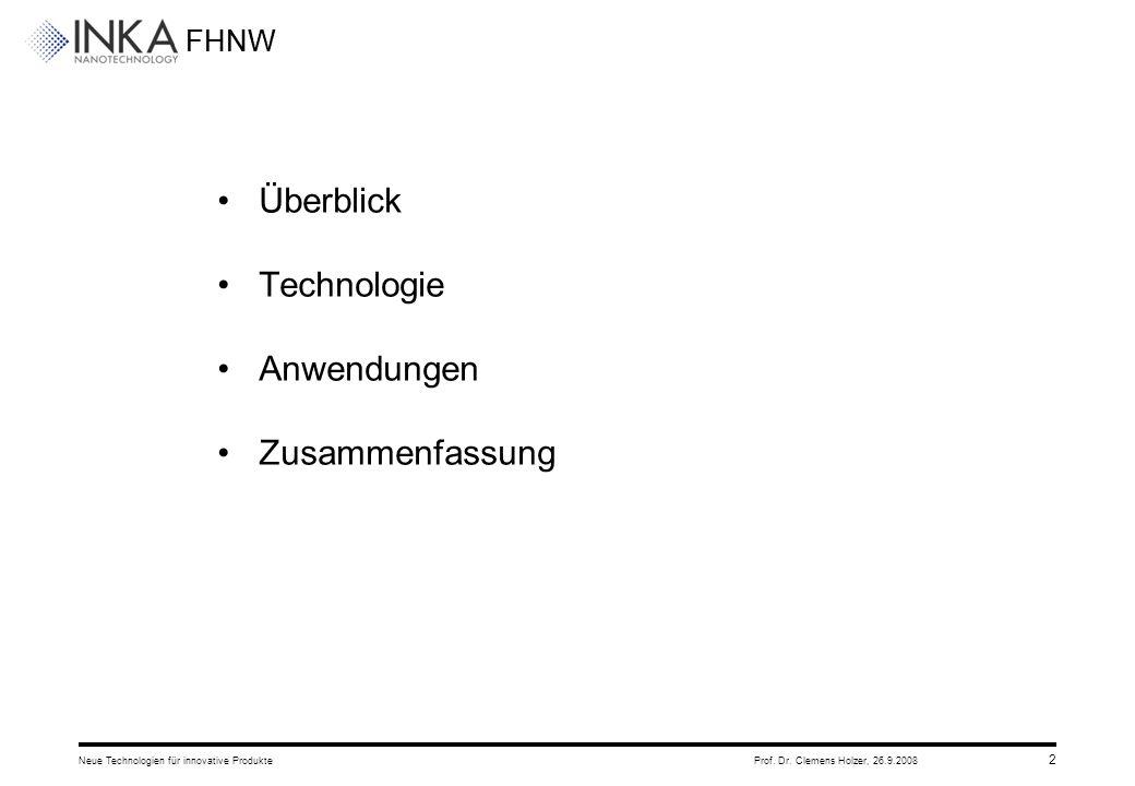 Überblick Technologie Anwendungen Zusammenfassung