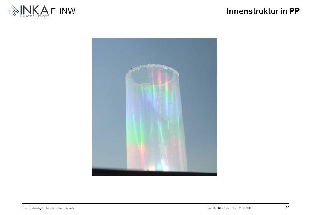 Innenstruktur in PP Neue Technologien für innovative Produkte Prof. Dr. Clemens Holzer, 26.9.2008