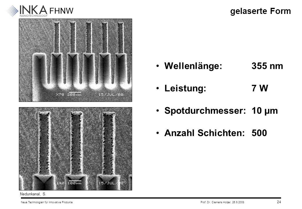 Wellenlänge: 355 nm Leistung: 7 W Spotdurchmesser: 10 μm