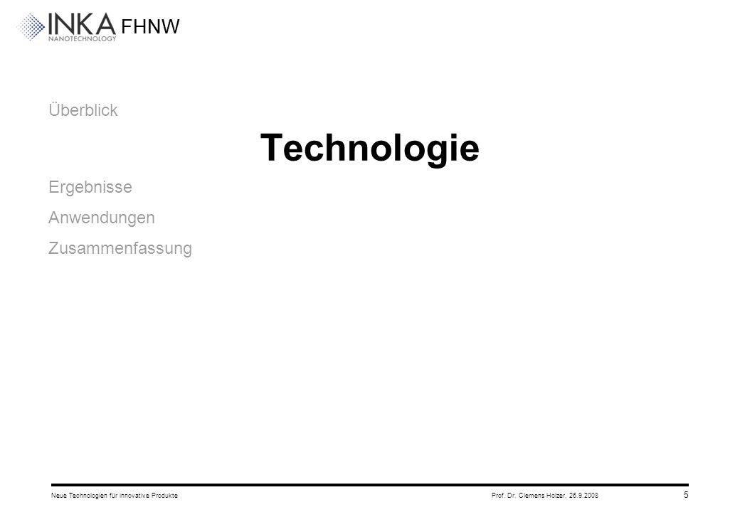 Technologie Überblick Ergebnisse Anwendungen Zusammenfassung