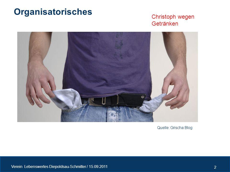 Organisatorisches Christoph wegen Getränken Quelle: Grischa Blog