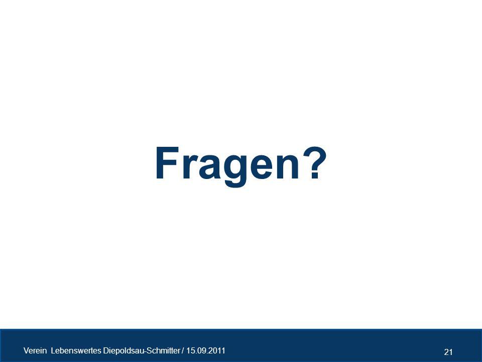 Fragen Verein Lebenswertes Diepoldsau-Schmitter / 15.09.2011