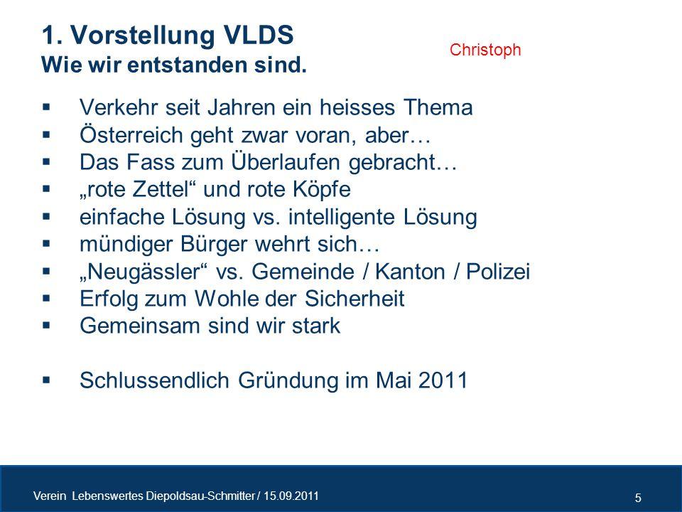 1. Vorstellung VLDS Wie wir entstanden sind.