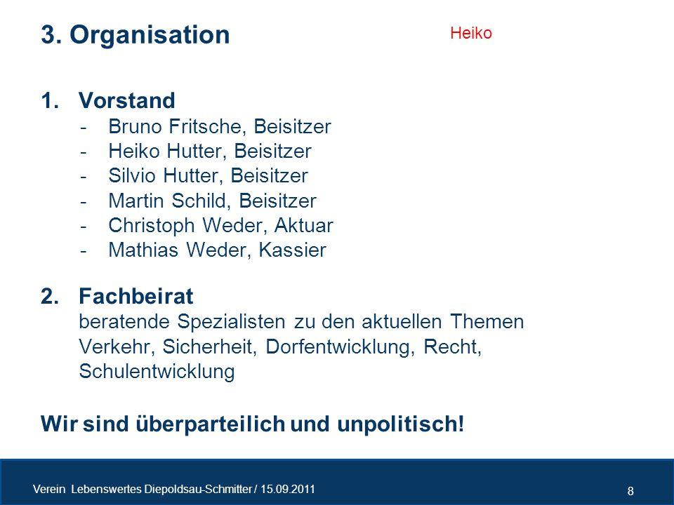 3. Organisation Vorstand