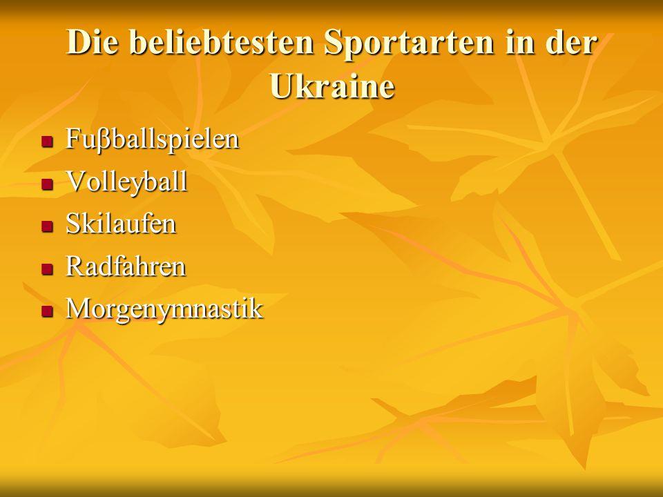 Die beliebtesten Sportarten in der Ukraine