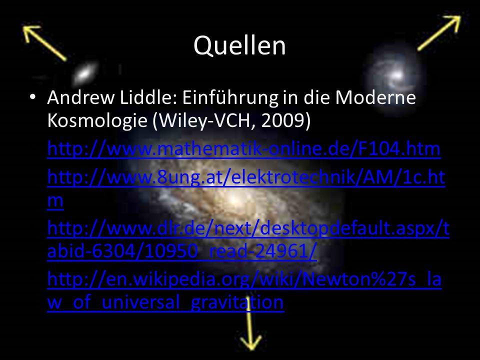 Quellen Andrew Liddle: Einführung in die Moderne Kosmologie (Wiley-VCH, 2009) http://www.mathematik-online.de/F104.htm.