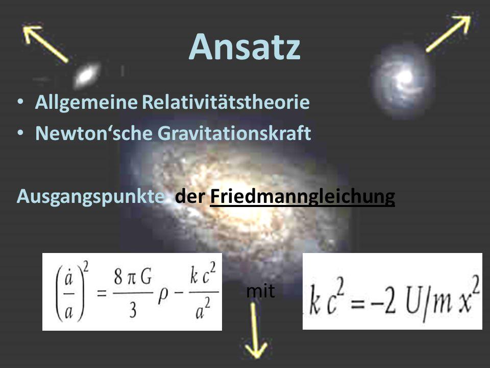 Ansatz Allgemeine Relativitätstheorie Newton'sche Gravitationskraft