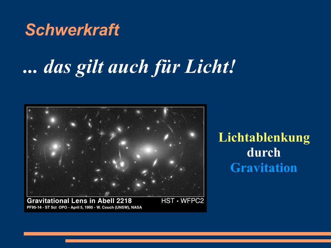 Lichtablenkung durch Gravitation