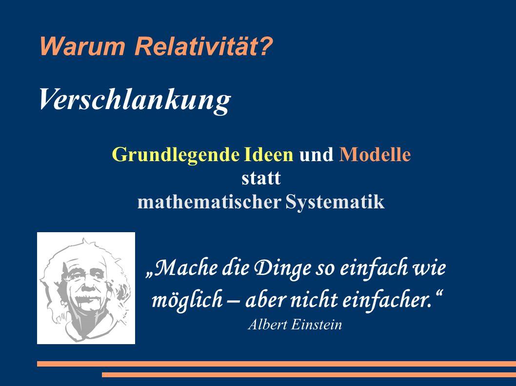 Grundlegende Ideen und Modelle statt mathematischer Systematik