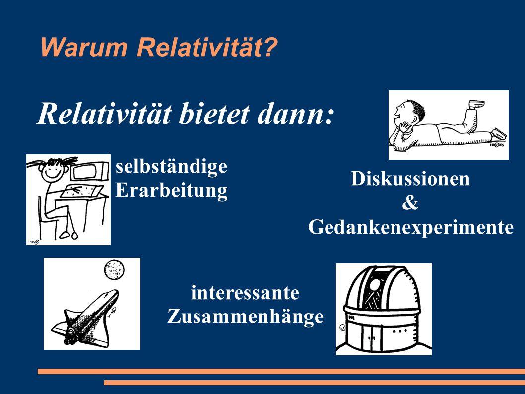 Relativität bietet dann:
