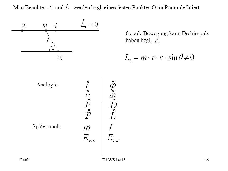 werden bzgl. eines festen Punktes O im Raum definiert