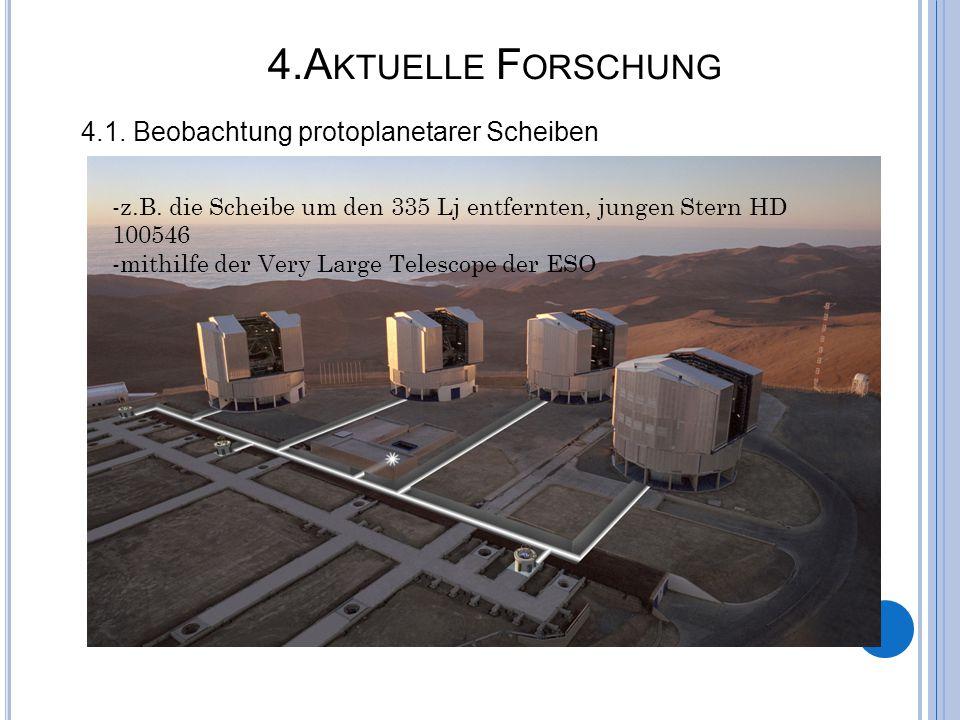 4.Aktuelle Forschung 4.1. Beobachtung protoplanetarer Scheiben