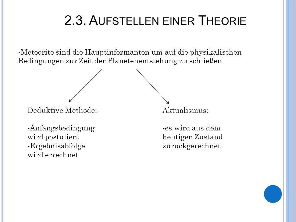 2.3. Aufstellen einer Theorie