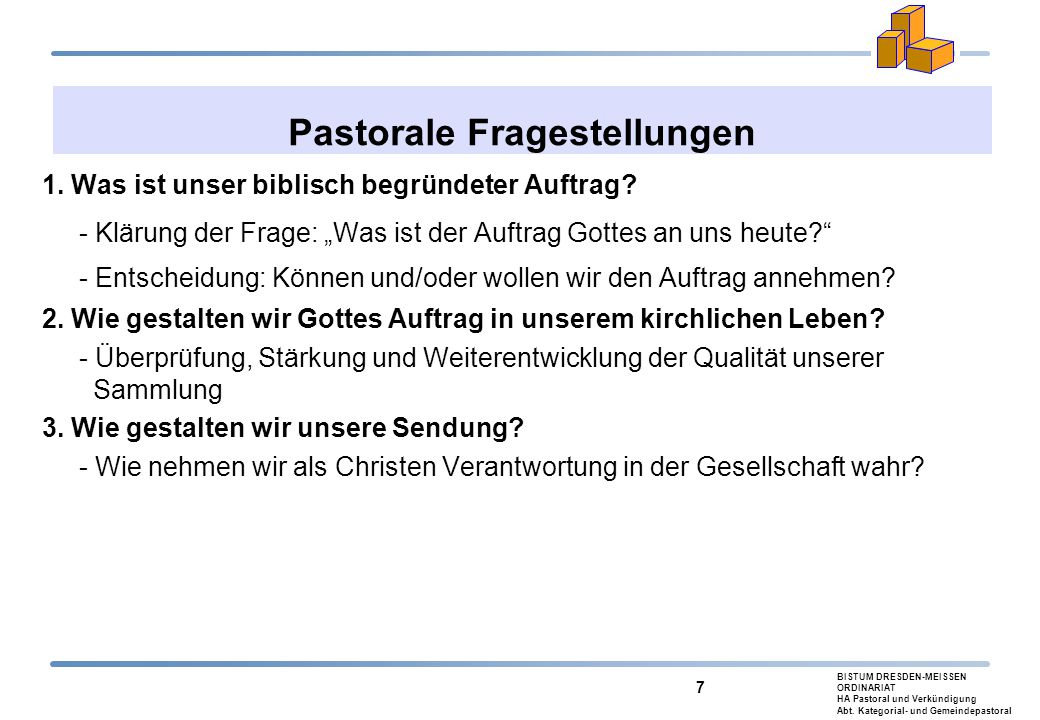 Pastorale Fragestellungen