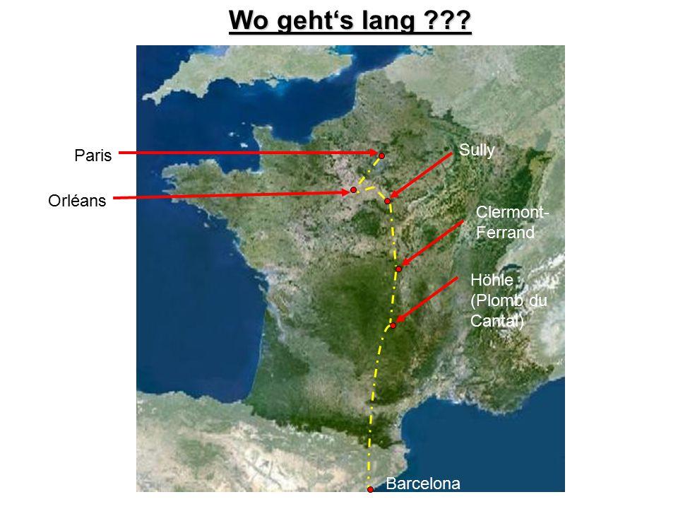 Wo geht's lang Sully Paris Orléans Clermont-Ferrand