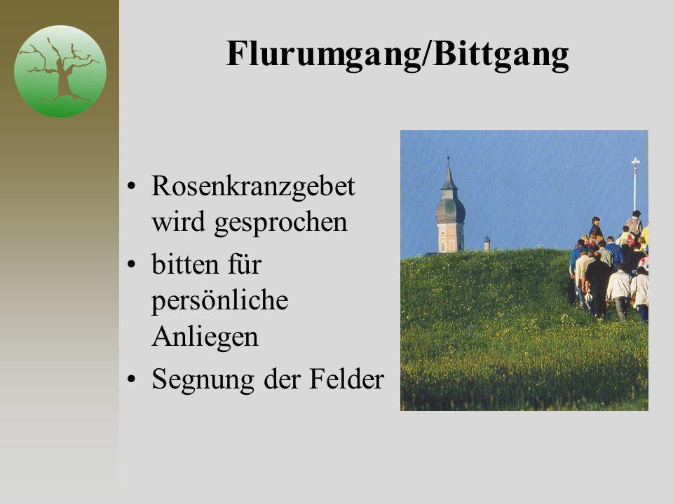 Flurumgang/Bittgang Rosenkranzgebet wird gesprochen