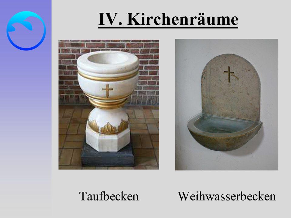 IV. Kirchenräume Taufbecken Weihwasserbecken
