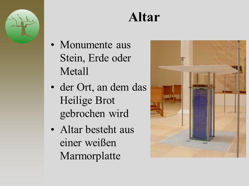Altar Monumente aus Stein, Erde oder Metall