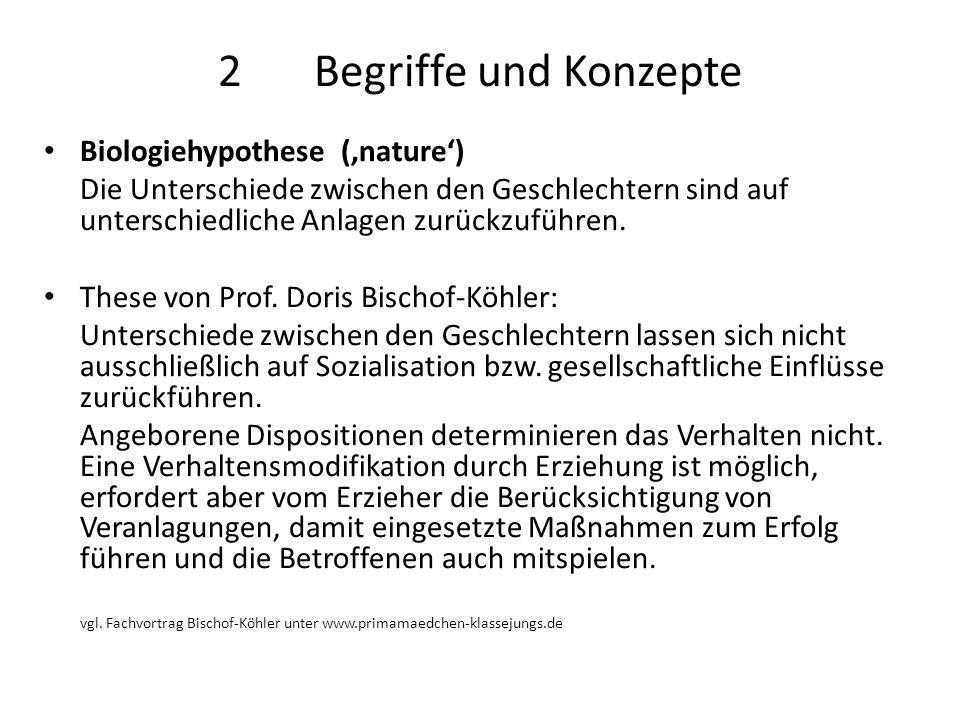 2 Begriffe und Konzepte Biologiehypothese ('nature')