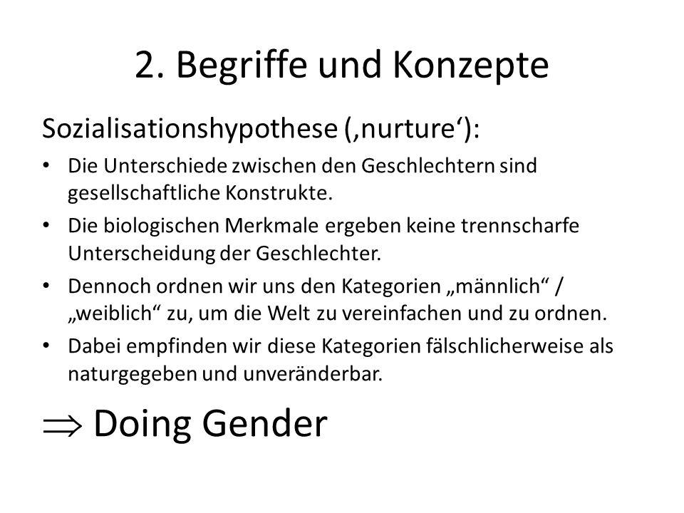 2. Begriffe und Konzepte  Doing Gender