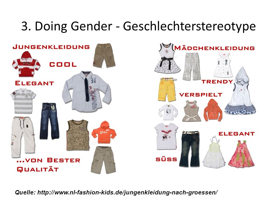 3. Doing Gender - Geschlechterstereotype