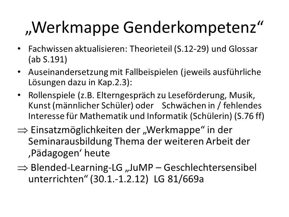 """""""Werkmappe Genderkompetenz"""