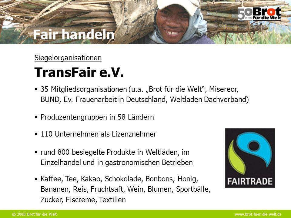 Siegelorganisationen TransFair e.V.