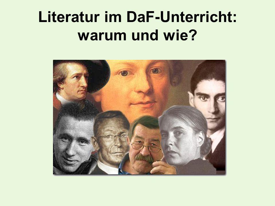 Literatur im DaF-Unterricht: warum und wie
