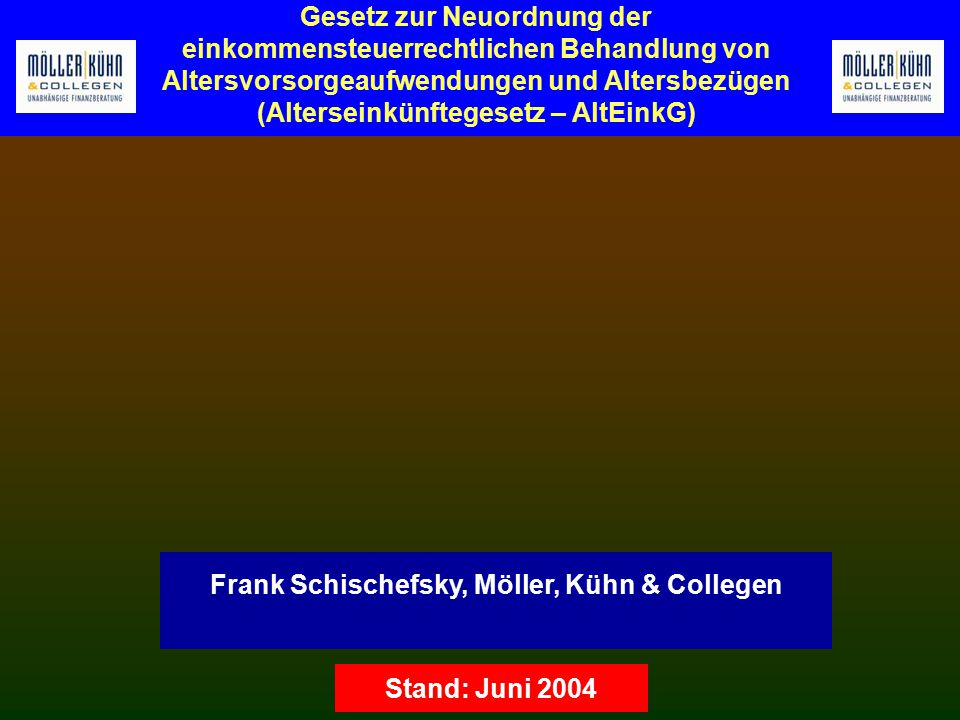 Frank Schischefsky, Möller, Kühn & Collegen
