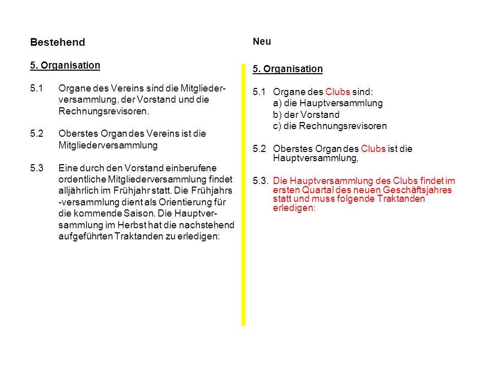 Bestehend Neu 5. Organisation 5. Organisation