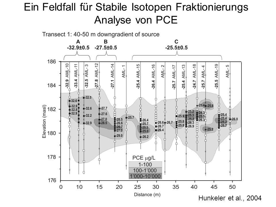 Ein Feldfall für Stabile Isotopen Fraktionierungs Analyse von PCE