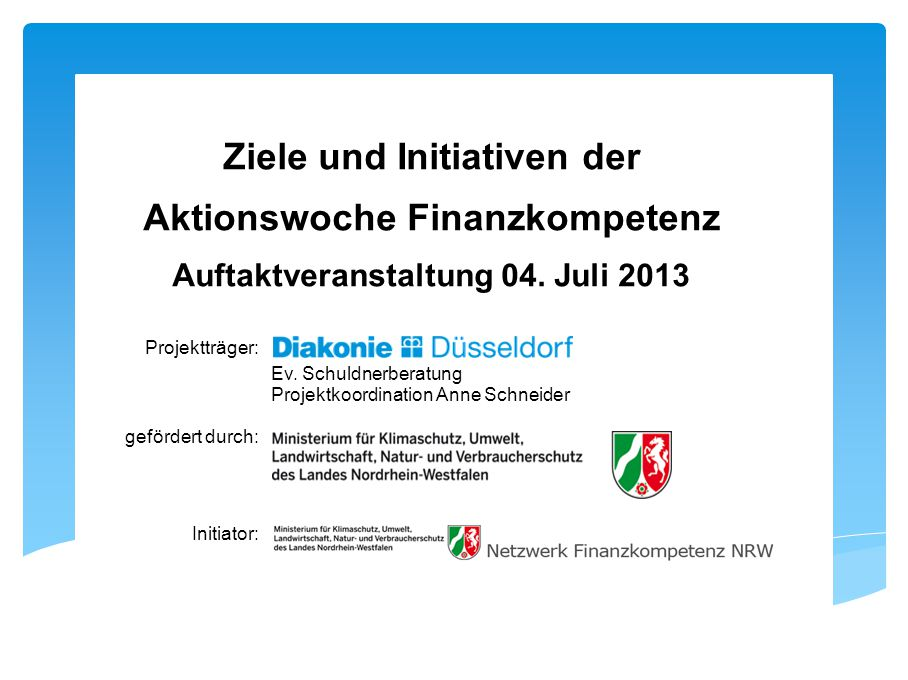 Aktionswoche Finanzkompetenz